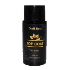 Топ Nail Best NO WIPE Top Coat, 30 мл